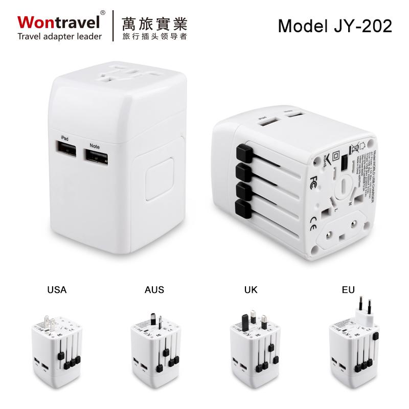 全球旅行插座USB JY-202