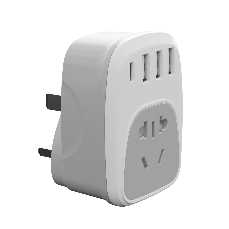 WL國標插頭轉換器USB歐規英規美規澳規轉換插頭