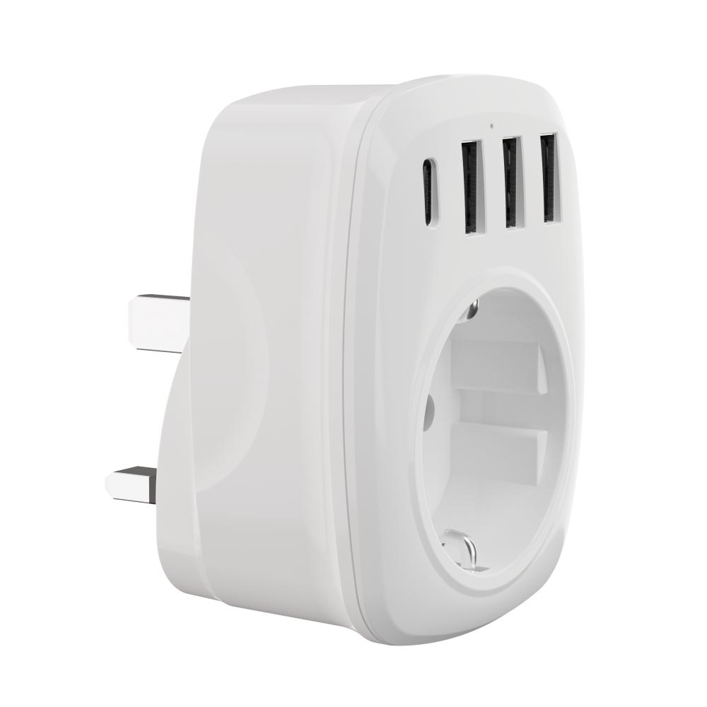 WL德法式轉換插頭USB Type C歐規英規美規澳規插腳