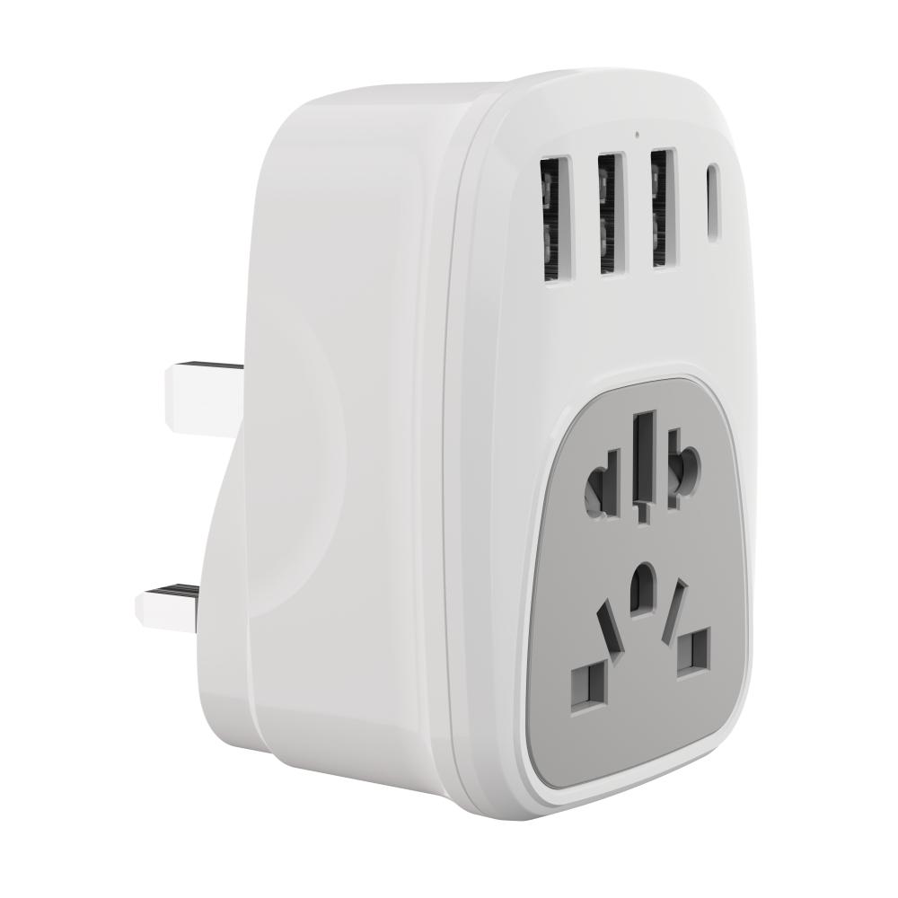 WL多國通用插頭轉換器歐規英規美規澳規USB轉換插頭