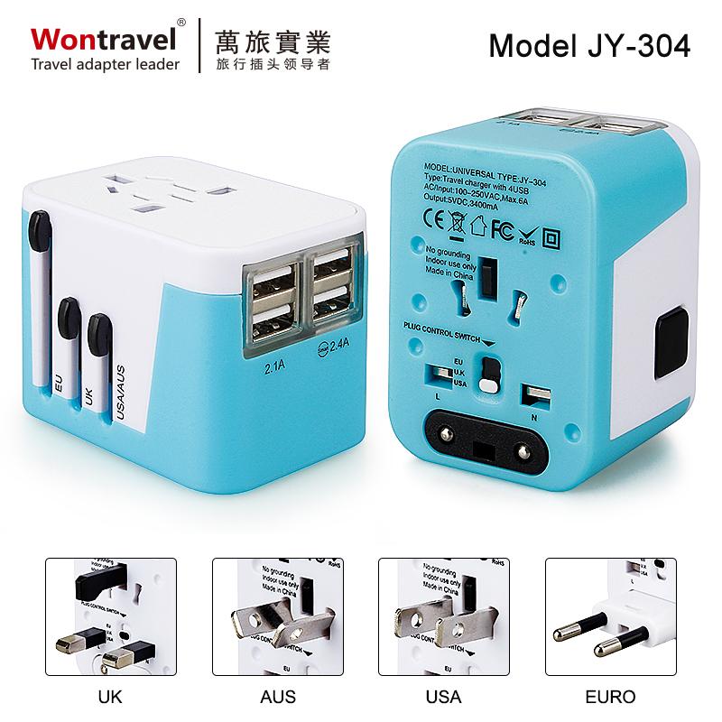 4USB 全球通用旅行轉換插座 JY-304
