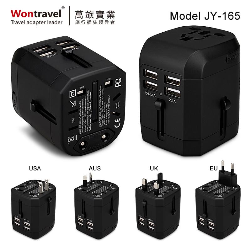 4USB 全球通用旅行轉換充電器 JY-165