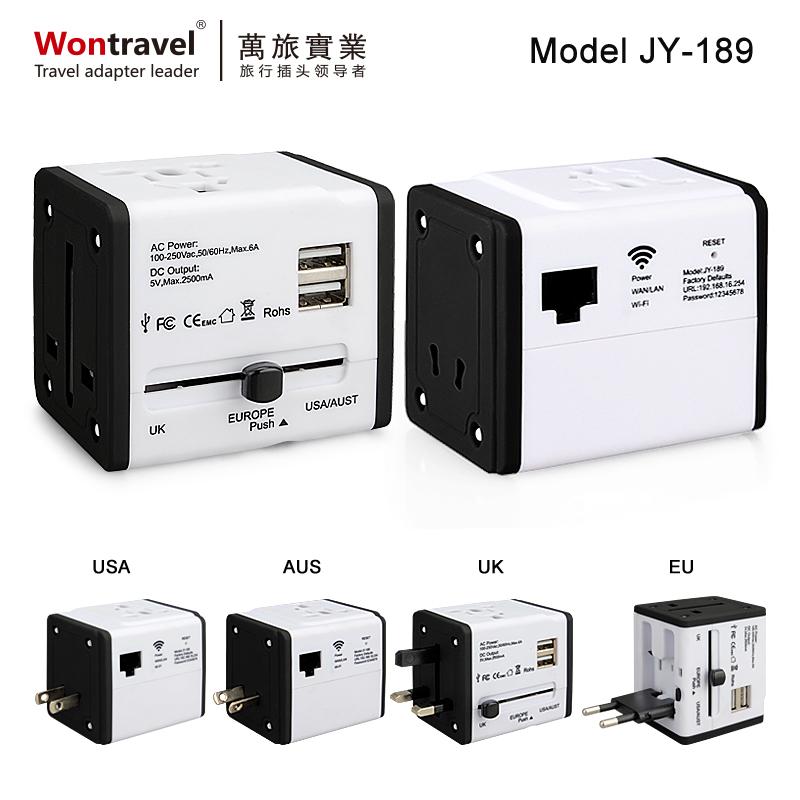 Wifi 2USB 全球通用旅行转换插座 JY-189