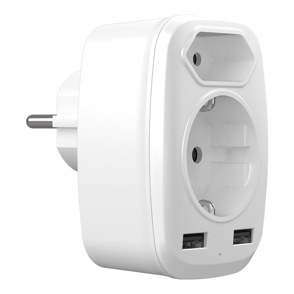 WL-030S德規轉歐規德法式USB轉換插座
